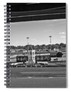 Churchill Downs' Winner's Circle In Black And White Spiral Notebook