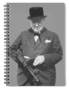 Churchill Posing With A Tommy Gun Spiral Notebook