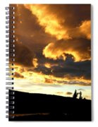 Churning Clouds 1 Spiral Notebook
