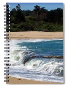 Churning Surf At Monastery Beach Spiral Notebook