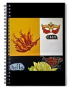 Ciao Means Hello Spiral Notebook