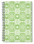 Cilantro- Green And White Art By Linda Woods Spiral Notebook