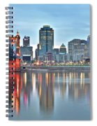Cincinnati At Dusk Spiral Notebook