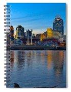 Cincinnati Skyline Across The Ohio River Spiral Notebook