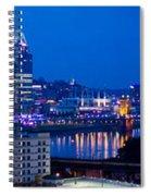 Cincinnati Skyline At Night Spiral Notebook