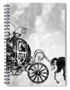 Cinderella's Carriage-black Spiral Notebook