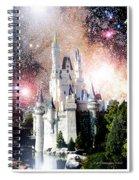 Cinderella's Castle, Fantasy Night Sky, Walt Disney World Spiral Notebook