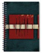 Cinnabar And Indigo Number 2 Of 2 Spiral Notebook