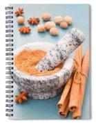 Cinnamon In Mortar Spiral Notebook