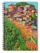 Cinque Terre, Ocean Seascape Art Spiral Notebook