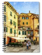 Cinque Terre - Vernazza Main Street - Vintage Version Spiral Notebook