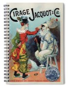 Cirage Jacquot And Cie - Vintage French Advertising Poster Spiral Notebook