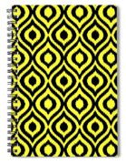 Circle And Oval Ikat In Black N05-p0100 Spiral Notebook