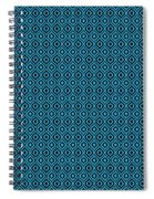 Circle And Oval Ikat In Black N18-p0100 Spiral Notebook
