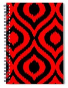Circle And Oval Ikat In Black T02-p0100 Spiral Notebook