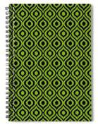 Circle And Oval Ikat In Black T09-p0100 Spiral Notebook