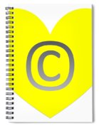 Circle C Yellow Spiral Notebook