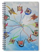 Circle Of Hearts Spiral Notebook