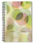Circle Pattern Overlay Spiral Notebook