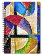 Circles And Shapes Spiral Notebook