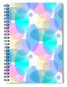 Circles In Pastel Spiral Notebook