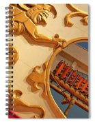 Circus Calliope Wagon In Red And Gold Spiral Notebook