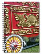 Circus Car In Red And Gold Spiral Notebook
