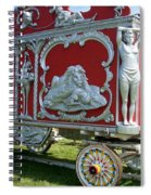 Circus Car In Red And Silver Spiral Notebook