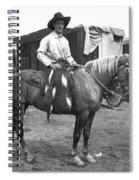 Circus Cowboy On Horse Spiral Notebook