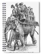 Circus: Elephant, C1901 Spiral Notebook