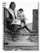 Circus Giant And Harry Doll Spiral Notebook