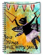 Circus Kitty - Your Wings Will Carry You Spiral Notebook
