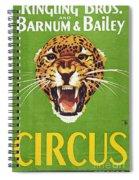 Circus Poster, 1940s Spiral Notebook