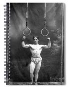 Circus Strongman, 1885 Spiral Notebook