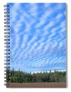 Cirrocumulus Clouds Over Mt. Mclaughlin Spiral Notebook