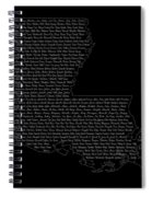 Cities And Towns In Louisiana White Spiral Notebook