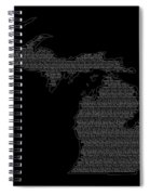 Cities And Towns In Michigan White Spiral Notebook