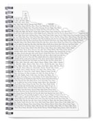 Cities And Towns In Minnesota Black Spiral Notebook