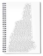 Cities And Towns In New Hampshire Black Spiral Notebook
