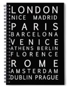 Cities Of Europe Spiral Notebook