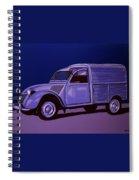 Citroen 2cv Azu 1957 Painting Spiral Notebook