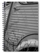 Citroen H Van In Mono Study 1 Spiral Notebook