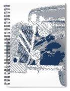 Citroen Traction Avant  - Parallel Hatching Spiral Notebook