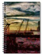 City - Ny - Overlooking The Hudson Spiral Notebook