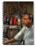City - Ny - The Pretzel Vendor Spiral Notebook
