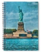 City - Ny - The Statue Of Liberty Spiral Notebook