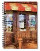 City - Ny 77 Water Street - Candy Store Spiral Notebook