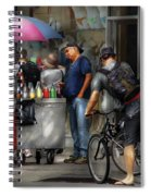 City - Ny Delancy St - Getting A Snowcone  Spiral Notebook