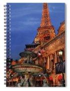 City - Vegas - Paris - Academie Nationale - Panorama Spiral Notebook