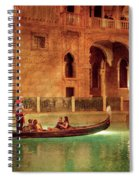 City - Vegas - Venetian - The Gondola's Of Venice Spiral Notebook